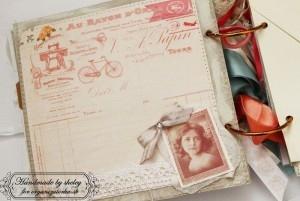 scrapbookový album vo vintage štýle