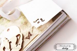 Scrapbookový album v romantickom štýle