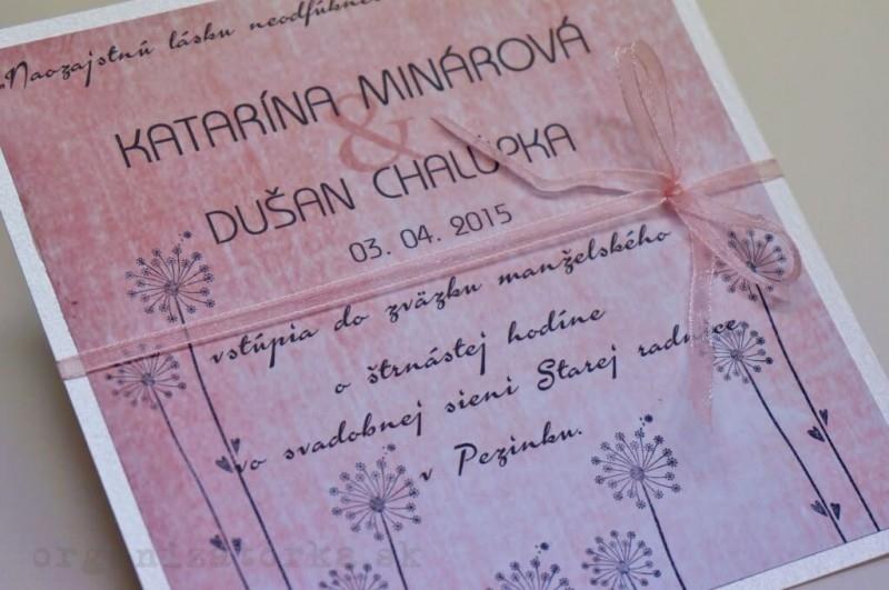 Svadobné oznámenie vo vintage štýle