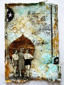 canvas art journal